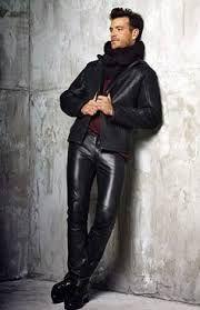 Resultado de imagem para men in leather pants