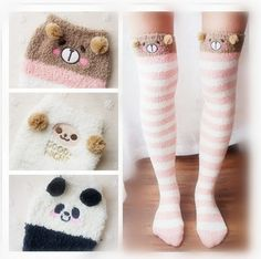 "Material:coral+fleece  Color:pink+stripe+bear,watermelon+red+stripe+pig,white+sheep,yellow+striped+cat,black+white+stripe+panda,  Size:free+size Length:80cm/31.2"",  Tips: *Please+double+check+above+size+and+consider+your+measurements+before+ordering,thank+you+^_^  Visiting+Store: Http:..."