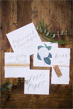 hand painted wedding stationery