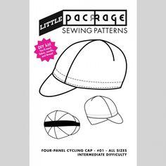 DIY Kit Sewing Pattern - Four-Panel Cycling Cap