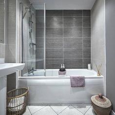The gorgeous Alton G bathroom Grey Bathrooms, Small Bathroom, Bathroom Ideas, Bathroom Inspo, Bathroom Designs, Porcelanosa Tiles, Taylor Wimpey, Kitchen New York, House Tiles