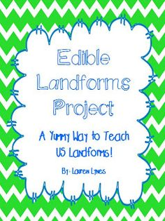 Simply Second Grade: Edible Landforms Project!