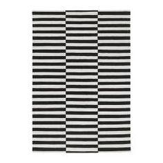 STOCKHOLM Rug, flatwoven, black striped black, off-white - 170x240 cm - striped black/off-white - IKEA