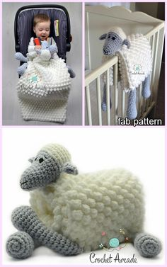 Cuddle and Play Sheep Blanket Crochet Pattern Cuddle and Play Sheep Baby Blanket Crochet PatternHow cute is this baby blanket! Keep your baby warm…Crochet Cuddle and Play Cow Baby Blanket Crochet Pattern Crochet Crafts, Crochet Toys, Crochet Projects, Knit Crochet, Crochet Ideas, Diy Crafts, Crochet Boot Socks, Crochet Sheep, Crochet Granny