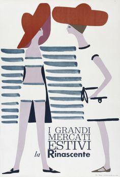 By Lora Lamm (Arosa, 1928), 1960, Mercati Estivi, La Rinascente, Milano. (I)
