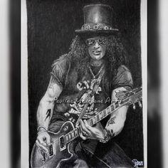 Slash pencil drawing by Paulina Medepona Arts