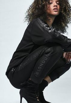 Introducing Londunn + Missguided, an exclusive collaboration with global fashion icon, Jourdan Dunn.  Get caught in a hot mesh in these black joggers - featuring an elasticated waistband and cuffs, ribbon drawstring, mesh body and side pa...