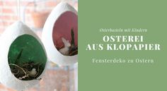 Easter crafts with children: Easter egg made of toilet paper - Ostern - Easter Art, Easter Crafts, Easter Eggs, Haft Seen, Diy And Crafts, Arts And Crafts, Easter 2021, Egg Designs, Decoration Table