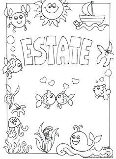disegni, idee e lavoretti per la Scuola dell' Infanzia e non solo... Doodle Coloring, Free Coloring, Coloring Books, Coloring Pages, Page Borders Design, Border Design, Baby Embroidery, Embroidery Patterns, Diy And Crafts
