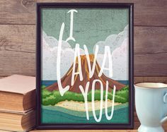 Did you fall in love with the Pixars short Lava the way my son and I did? If you did, youre in the right place! This heart-warming story and song put a smile on our face right away (and maybe brought a tear to my motherly eye). This would be great for nursery decor, movie room memorabilia, home decor, etc. This decorative wall hanging is available as a digital file, poster, or canvas. The original size is an 8x10. If you are interested in a different size, please contact me for pricing…
