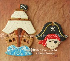 Awesome pirate cookies! (boy)