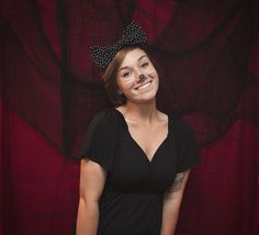 What you need: -Black Polkadot Headband -Black Outfit -Black nose & whiskers (eyeliner works!)