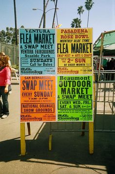 Flea market signs