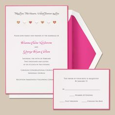 #PInk Wedding Invitation... Wedding ideas for brides, grooms, parents & planners ... https://itunes.apple.com/us/app/the-gold-wedding-planner/id498112599?ls=1=8 … plus how to organise an entire wedding ♥ The Gold Wedding Planner iPhone App ♥