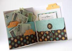 Idéia de carteira/cartão tag para presentear alguém com dinheiro. Scrappassion.