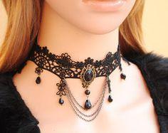 Romántico de encaje blanco gargantilla collar por FairybyFoxie