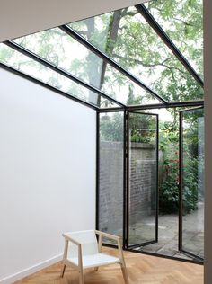 Lean to extension . Interior Exterior, Interior Architecture, Glass Extension, Extension Ideas, Glass Room, Lean To, House Extensions, Glass House, Winter Garden