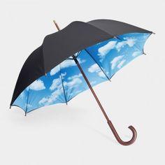 Top 12 Beautiful Umbrellas: Sky umbrella by Tibor Kalman and Emanuela Frattini Magnusson, via WeeBirdy.com. Best Umbrella, Black Umbrella, Under My Umbrella, Umbrella Art, Vintage Umbrella, Tibor Kalman, Moma Store, Umbrellas Parasols, Cute Umbrellas