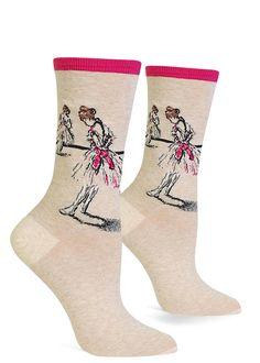 c182b1e1d50 Degas dance socks for women show ballerinas from his famous painting series  of ballet dancers!