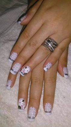90 stylish spring flower nail art designs and ideas 2019 cowboy nails, flower nails, Spring Nail Art, Nail Designs Spring, Gel Nail Designs, Spring Nails, Nails Design, Fancy Nails, Trendy Nails, Cute Nails, Fabulous Nails
