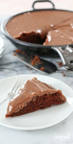 Chocolate Skillet Cake with Peanut Butter Chocolate Icing