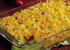 Impossibly Easy Breakfast Bake (Crowd Size)  This is very easy and great tasting
