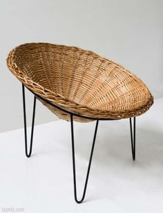 Spa Chair.   This comfortable wicker chair was designed in the 19th century for the Vimeiro spa.  Both the iron legs and the conical seats are stackable.