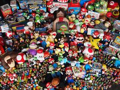 Look at all the Super Mario toys and OH MY GOD THERE'S A CHILD IN THERE