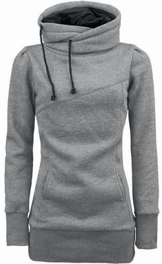 The Vogue Fashion: Grey Comfy Hooded Sweatshirt