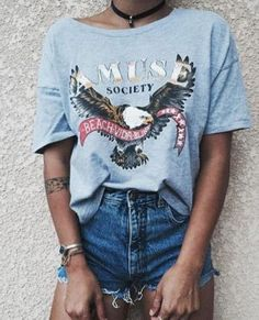 like the casual like look of this outfit I do not like the chocker Summer Outfits, Casual Outfits, Cute Outfits, Work Outfits, Winter Outfits, Rock N Roll Outfit, Looks Style, Style Me, Look Fashion