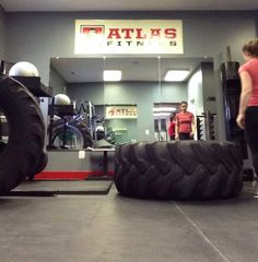 flipping tires at Atlas Fitness DC on Capitol Hill