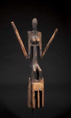 A Superb Dogon Satimbe mask--Ex. Kamer