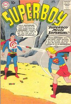 Superboy #80, April, meets Supergirl