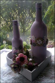 romantische wijnflessen