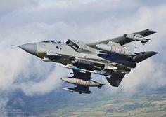 A XI(B) Sqn Tornado GR4 training for deployment to Afghanistan.