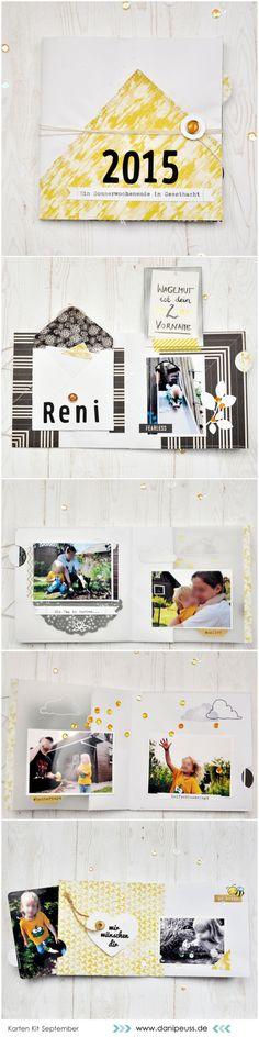 Sommer Minialbum von Reni mit dem #dpSeptemberkit15 #dpKartenkit AddOn von www.danipeuss.de #BasicGrey #Minialbum #danipeuss #OctoberAfternoon #Memorykeeping