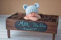 NEWBORN Baby Boy Hat, Baby Boy Teddy Bear Hat, Baby Flapper ...
