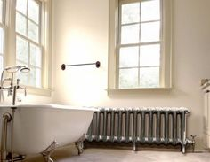 Carron Princess Cast Iron Radiator shown in the Hand Burnished finish