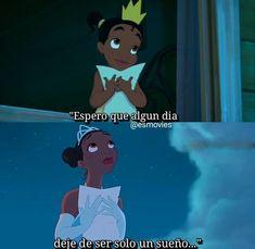 Sad Disney, Disney Pixar, Disney Movie Quotes, Disney Movies, Triste Disney, Princesa Tiana, Funny Spanish Memes, Weird Words, Motivational Phrases