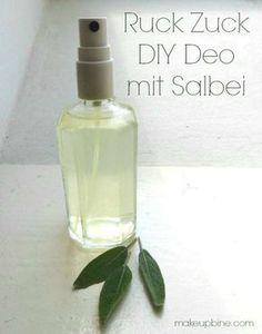 makeupbine: DIY Sommer Kosmetik: Ruck Zuck Salbei Deo