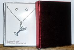 Genuine Crystal Necklace & Earring Set is going up for auction at  5pm Sun, May 5 with a starting bid of $3.