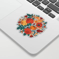 Vintage flower garden Sticker by catyarte Cute Laptop Stickers, Sticker Shop, Vintage Flowers, Mind Blown, Cool Designs, Personal Style, How To Draw Hands, Garden, How To Make