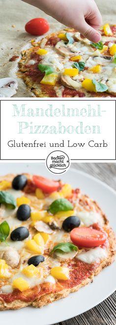 Diese kohlenhydratarme und glutenfreie Pizza ist der perfekte Ersatz für alle, die sich low carb ernähren - und den italienischen Klassiker Pizza trotzdem genießen wollen!