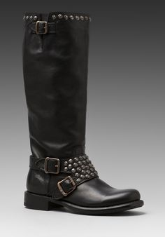 FRYE Jenna Studded Tall Boot in Black at Revolve Clothing - Free Shipping!