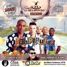 Heliponto Bar | Super Sábado a tarde com Art Popular Coloque seu nome na lista pelo link: http://www.baladassp.com.br/balada-sp-evento/Heliponto-Bar/557 Whats: 951674133