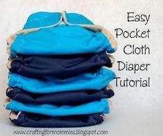 Easy Pocket Cloth Diaper Tutorial free pattern