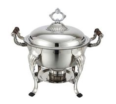 Winco Crown Chafer - 708  Crown Chafer, 5 quart, round, 18/8 stainless steel, dome cover