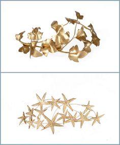 ¡Un look con tocado dorado para novias e invitadas! Hojas y estrellas Amor a primera vista, la coleccion de @Anamaria Chicodeguzman