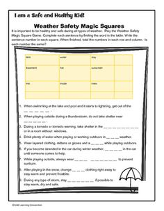 This activity combines science and math into a fun safety lesson. Students match…