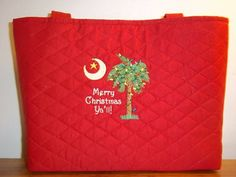 Quilted Merry Christmas Y'all purse.